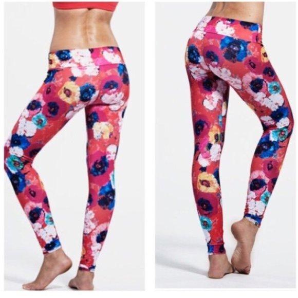 Onzie Floral Print Yoga Leggings Anthropologie